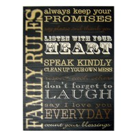 New View Family Rules Wall Plaque