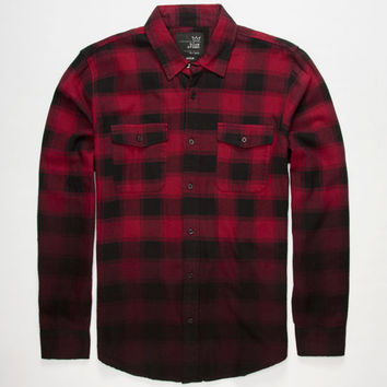 7075203d99d193 Blue Crown Dip Dye Mens Flannel Shirt Red from Tilly s