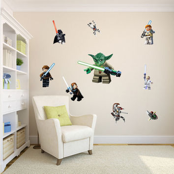 Star Wars movie Wall stickers kids rooms home decoration 1428. diy cartoon yoda decals children gift mural art print posters 3.5 SM6