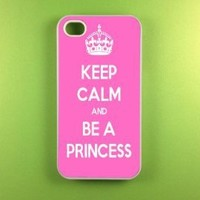 Iphone 4 Case - Keep Calm Be Princess Iphone Case, Iphone 4s Case:Amazon:Cell Phones & Accessories