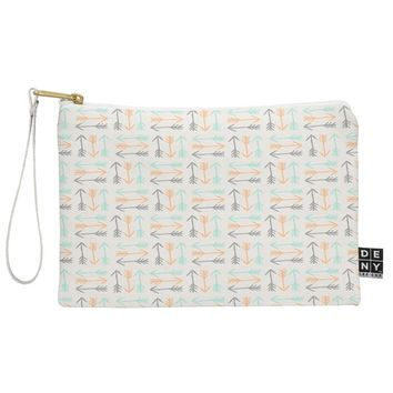 Allyson Johnson Peachy Arrows Pattern Pouch