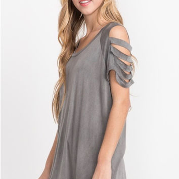 Charcoal Jersey Top