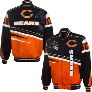 Chicago Bears First and Ten Jacket – Navy Blue