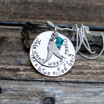 Sympathy Gift for Mother Loss of a Son Memorial Jewelry Angel Wings Necklace Miscarriage Necklace Sympathy Gift For Mother Child Grief