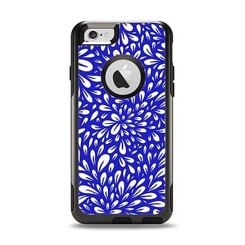 The Royal Blue & White Floral Sprout Apple iPhone 6 Otterbox Commuter Case Skin Set