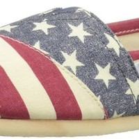 BOBS from Skechers Women's Americana Flat,Red/Multi,9 M US