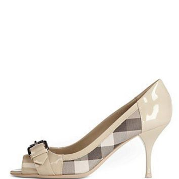 Burberry Peeptoe Pumps - Shoes - Bloomingdales.com