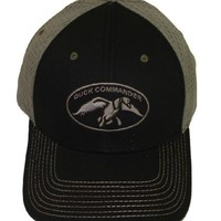 Duck Commander ~ Black with Grey Jersy Mesh ~ Duck Hunting Hat Cap Dynasty New