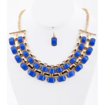 The Evening Blue Necklace Set