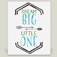 Dream Big Art Print by redfawndesigns on BoomBoomPrints