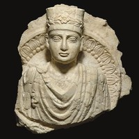 CIRCA 2ND CENTURY A.D. -A PALMYRENE LIMESTONE BUST OF A PRIEST