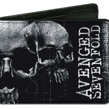 Avenged Sevenfold Men's Open Mind Skulls Bi-Fold Wallet