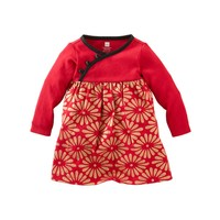 Red Sparkly Patterned Dress for Girls | Tea Collection