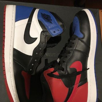 PEAPON Air Jordan 1 Top 3 Size 8 Bred Royal SBB