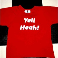SWEET LORD O'MIGHTY! YELL HEAH CROP TEE IN RED