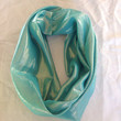 Sale 50% off! 7.95 Trendy Aqua Shiny SILK Eternity scarf, Aqua iridescent Infinity scarf Accessory for women Great gift for her