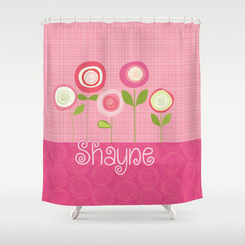 Pink Blossoms  - Girl's  Bathroom Decor