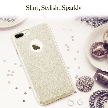 "ESR sd05 iPhone 7 Plus Case, Bling Glitter Sparkle Three Layer Shockproof Soft TPU Outer Cover + Hard PC Inner Protective Shell Skin for Apple 5.5"" iPhone 7 Plus (Champagne Gold)"
