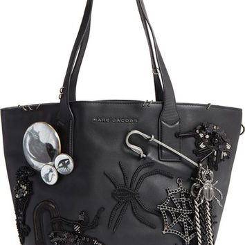 MARC JACOBS Large Wingman - Badges Leather Shopping Tote | Nordstrom