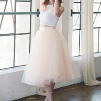 The Wendy - Blush Tulle Skirt | Space 46