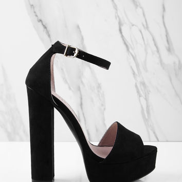 Chinese Laundry Avenue Suede Peep Toe Heel