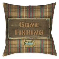 Gone Fishing Indoor Decorative Pillow