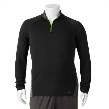 Tek Gear DRY TEK Colorblock Quarter-Zip Performance Pullover - Big & Tall
