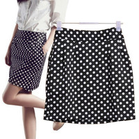 Polka Dot Pencil Mini Skirt