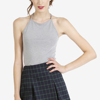 Check In Plaid Skirt - Green