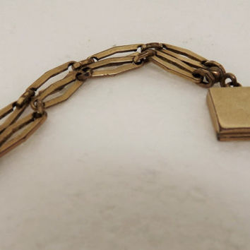 Antique Victorian Gold Locket Chatelaine Chain Fob-Chatelaine Locket-Victorian Locket~Victorian Chatelain Locket