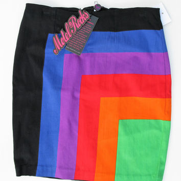 Motel Rocks Rainbow Becka Skirt S NWT