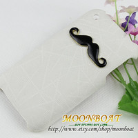 Black Mustache White Case Cover For Apple iPhone 3 Case, iPhone 3gs Case, iPhone 3 Hard Case, iPhone Case MB3G-682