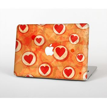 The Vintage Subtle Red and Orange Hearts Skin for the Apple MacBook Air 13""