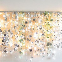 Winter Sparkle Mirror Garland & White Lights