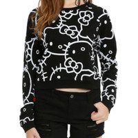Hello Kitty Tonal Girls Pullover Top