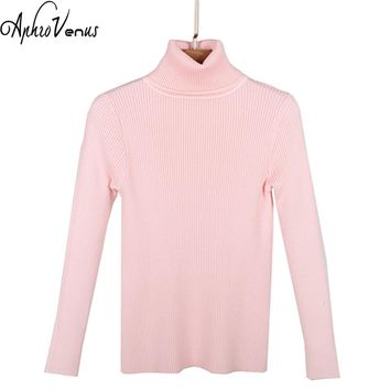 Women Sweater Pullover Warm Christmas Sweater Turtleneck Sweater Women Long Sleeve Casual Female Elastic Warm Pullover Tops