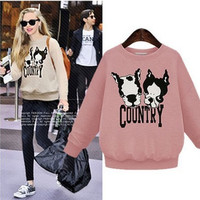 Fashion Autumn Women Extra Plus Size Long Sleeve Sweatshirt a13112