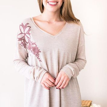 Heart Of Marigold Floral Detail Top