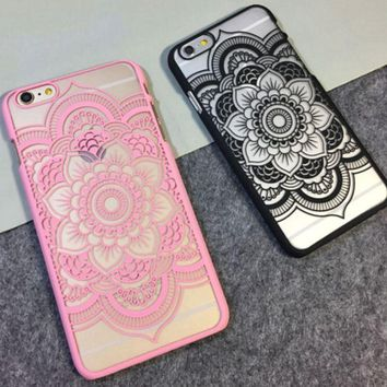 Floral Henna Paisley Mandala Palace Flower Case for iPhone