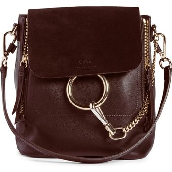 Chloé Small Faye Suede & Leather Backpack | Nordstrom