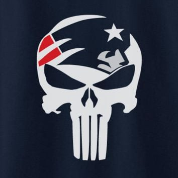 Custom New England Patriots Punisher Logo Tee T-Shirt Tshirt Superman