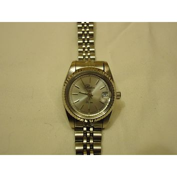 Raton Watch Analog Dress Metal Female Adult Silvers Solid -- Preowned
