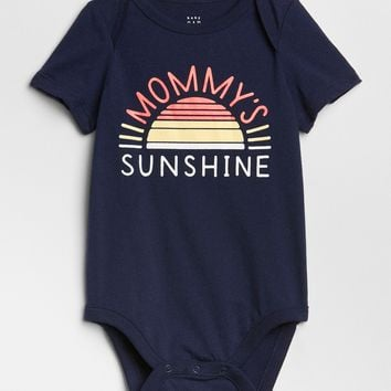 Graphic Short Sleeve Bodysuit | Gap
