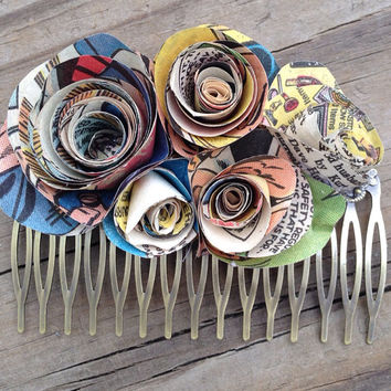 Superhero Wedding Hair Comb - Comic Book Wedding Hair Clip - Comic Book Hair Comb - Wedding Hair Comb