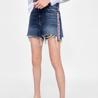 PEARLY SIDE STRIPE SHORTS Z1975DETAILS