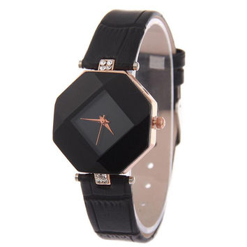 Rhinestone Prismatic Shape Watch