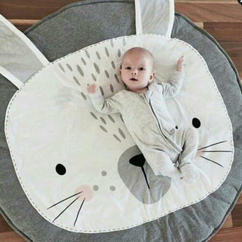 Rabbit and Bear Baby Blanket Game Play Mats 85cm