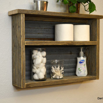 25 Cool Barnwood Bathroom Shelves | eyagci.com