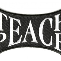 Teach Peace Embroidered iron on patch
