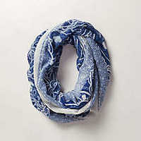 Anthropologie - Blue Willow Infinity Scarf